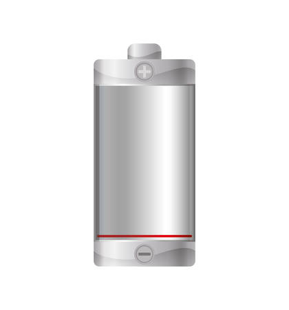 battery acid: Battery energy power charge icon. Isolated and flat illustration. Vector graphic Illustration