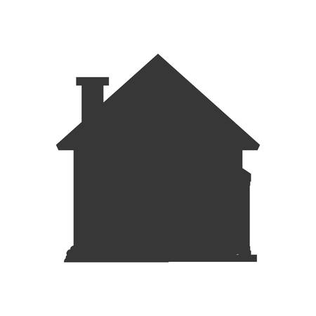 residential neighborhood: home house building real estate icon. Isolated and flat illustration. Vector graphic
