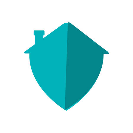 guard house: house shield security system insurace protection icon. Isolated and flat illustration. Vector graphic