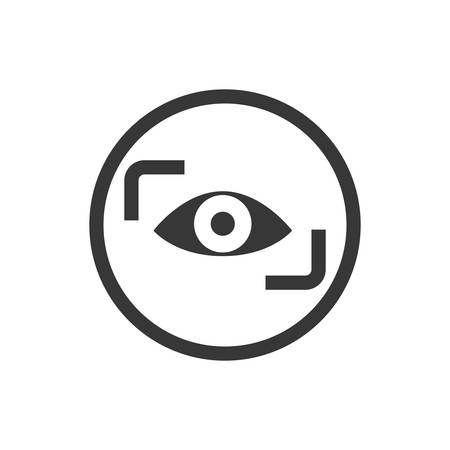 cctv security: eye cctv security system insurace protection icon. Isolated and flat illustration. Vector graphic