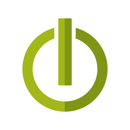 green power: on green power electric energy icon. Isolated and flat illustration. Vector graphic