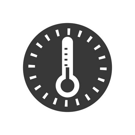 glass thermometer: thermometer temperature science glass icon. Isolated and flat illustration. Vector graphic Illustration