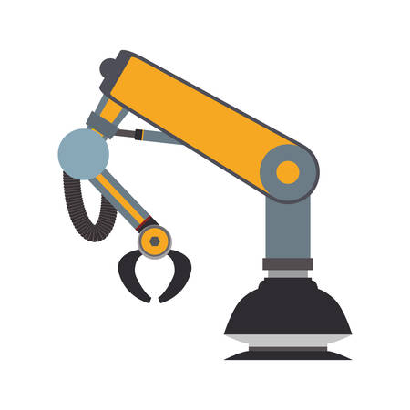 android robot: arm robot technology android metal  icon. Isolated and flat illustration. Vector graphic