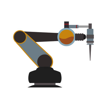 arm robot technology android metal  icon. Isolated and flat illustration. Vector graphic