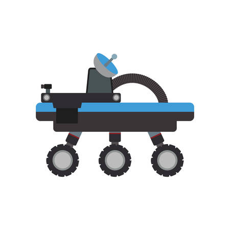 cybernetics: car transport robot technology android metal  icon. Isolated and flat illustration. Vector graphic