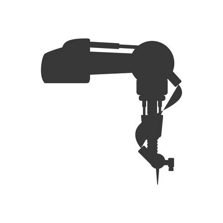 cybernetics: arm robot technology android metal  icon. Isolated and flat illustration. Vector graphic