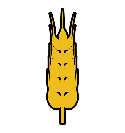 wheat ears food plant agriculture icon. Isolated and flat illustration. Vector graphic