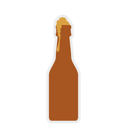 bottle beer drink beverage alcohol icon. Isolated and flat illustration. Vector graphic Illustration