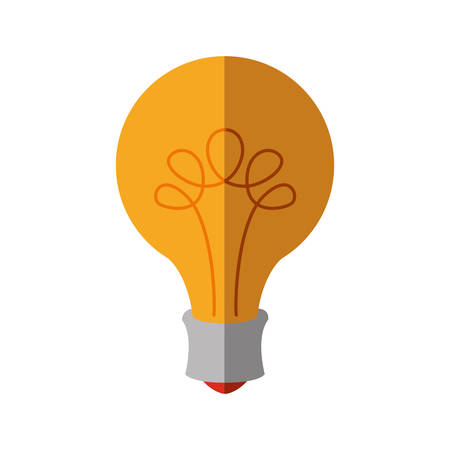 light bulb energy yellow power icon. Isolated and flat illustration. Vector graphic Illustration