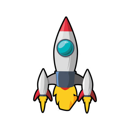 Science rocket flame fire icon. Isolated and flat illustration. Vector graphic