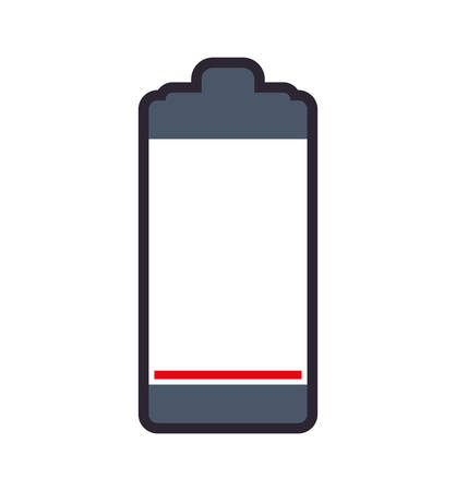 battery acid: Battery red energy power charge icon. Isolated and flat illustration. Vector graphic Illustration