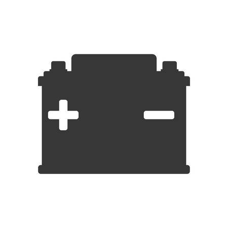 battery acid: Battery car energy power charge icon. Isolated and flat illustration. Vector graphic