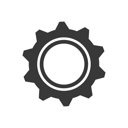 machine part: gear machine part technology metal icon. Isolated and flat illustration. Vector graphic