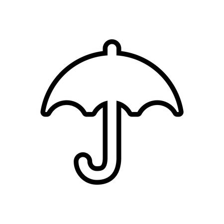umbrella weather rain protection icon. Isolated and flat illustration. Vector graphic Illustration