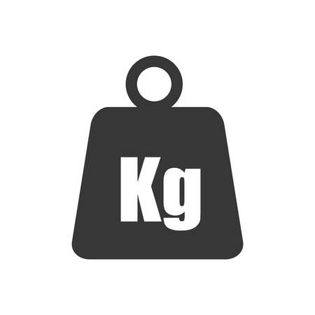 metal weight kilogram heavy icon. Isolated and flat illustration. Vector graphic