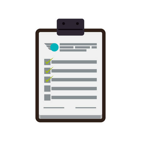 check list: check list delivery shipping logistic security icon. Isolated and flat illustration. Vector graphic Illustration