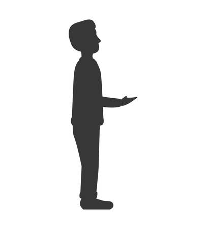 receive: Man receive get male avatar person people icon. Isolated and flat illustration. Vector graphic