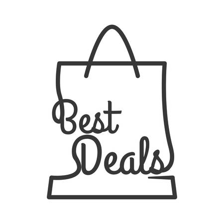 shoppping: best deal shopping bag commerce business icon. Isolated and flat illustration. Vector graphic