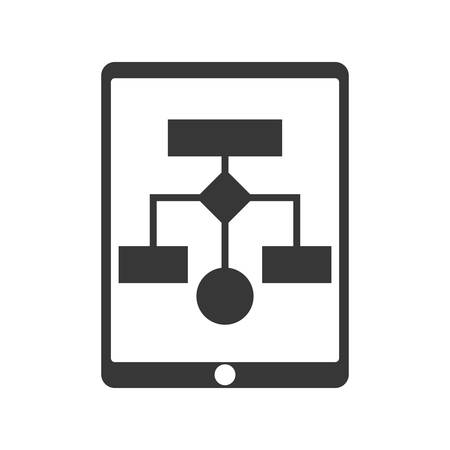 conceptual map: tableta infograf�a mapa conceptual icono de informaci�n de datos. ilustraci�n y plana. gr�fico vectorial