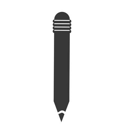 secretarial: pencil instrument draw write icon. Isolated and flat illustration. Vector graphic