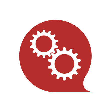 gear bubble cog machine part technology metal icon. Isolated and flat illustration. Vector graphic