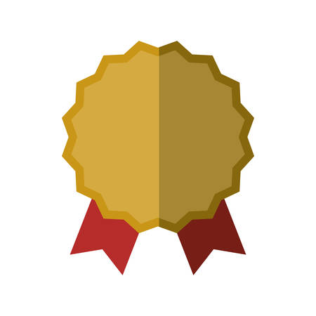 stamp seal: seal stamp gold ribbon label  icon. Isolated and flat illustration. Vector graphic