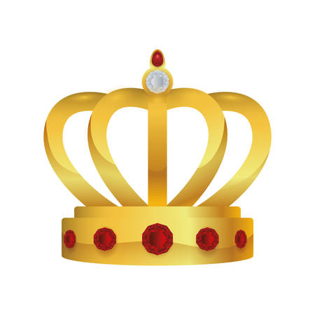 the aristocracy: crown royalty king queen icon. Isolated and flat illustration. Vector graphic