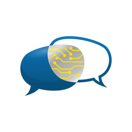 bubble speak message communication icon. Isolated and flat illustration. Vector graphic Illustration