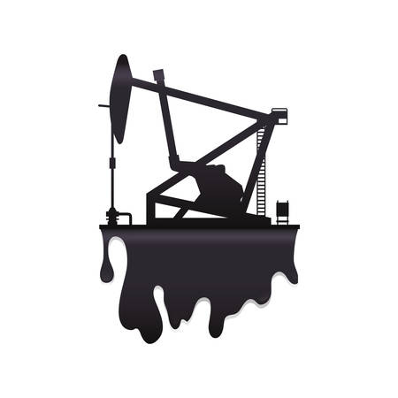 petrochemical: oil pump petroleum oil industry icon. Isolated and flat illustration. Vector graphic