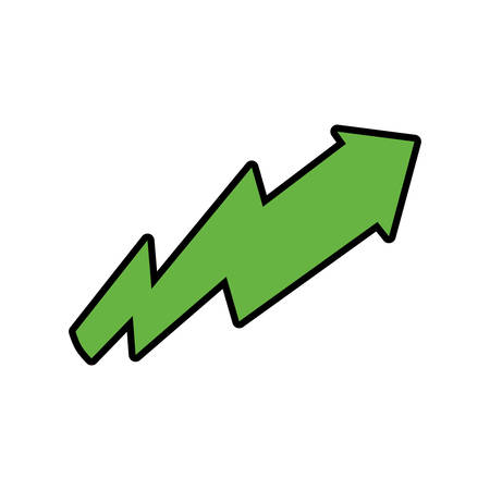orientation marker: arrow green direction up icon. Isolated and flat illustration. Vector graphic Illustration