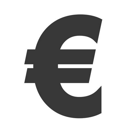 financial item: euro money financial item economy icon. Isolated and flat illustration. Vector graphic