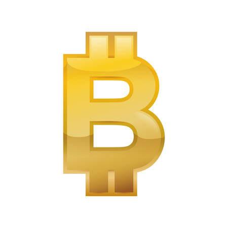 bitcoin money financial item economy icon. Isolated and flat illustration. Vector graphic
