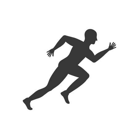 sport man: sport man running fitness icon. Isolated and flat illustration. Vector graphic Illustration