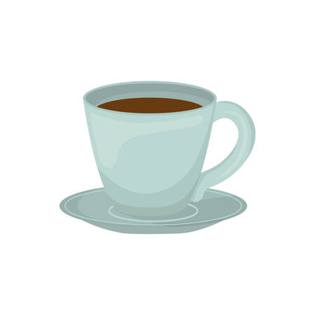 coffe mug time shop product icon. Isolated and flat illustration. Vector graphic Illustration
