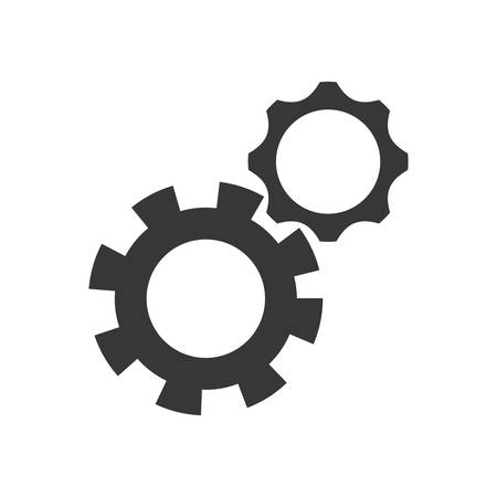 machine part: gear machine part cog metal icon. Isolated and flat illustration. Vector graphic