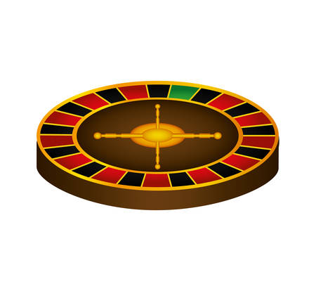 ruleta casino: roulette casino las vegas game lucky icon. Isolated and flat illustration. Vector graphic