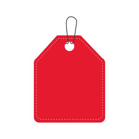 label rode banner koop pictogram. Geïsoleerde en vlakke illustratie. Vector afbeelding