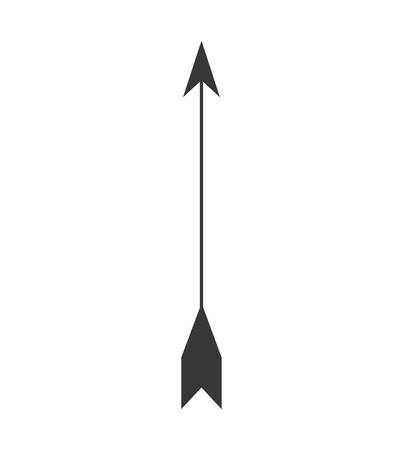 indian weapons: arrow feather vintage decoration icon. Isolated and flat illustration. Vector graphic