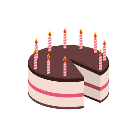 frosting: cake candle party cream bakery birthday icon. Isolated and flat illustration. Vector graphic