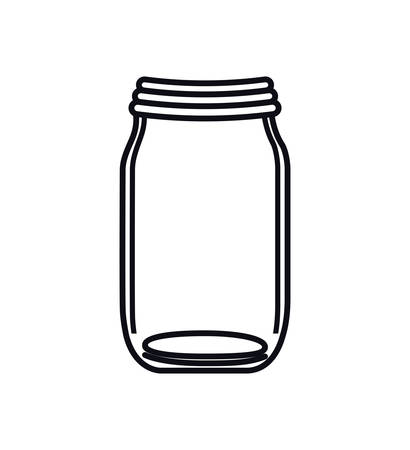 mason: mason jar glass rustic can icon. Isolated and flat illustration. Vector graphic