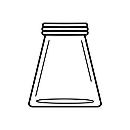 canning: mason jar glass rustic can icon. Isolated and flat illustration. Vector graphic