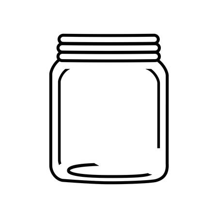 glass jar: mason jar glass rustic can icon. Isolated and flat illustration. Vector graphic