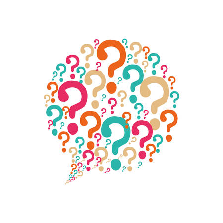 question mark bubble ask symbol problem icon. Isolated and flat illustration. Vector graphic
