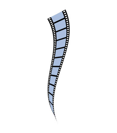 film strip movie cinema icon. Isolated and flat illustration. Vector graphic
