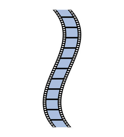 strip show: film strip movie cinema icon. Isolated and flat illustration. Vector graphic
