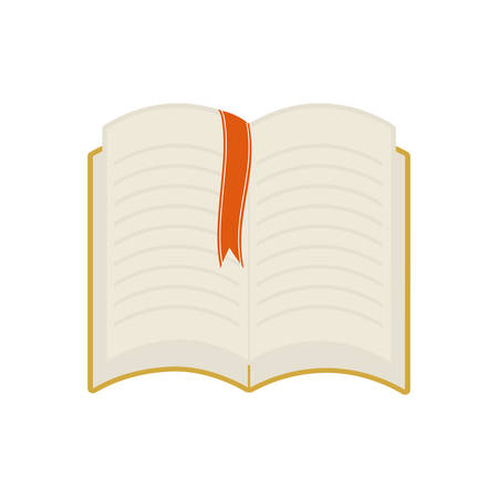 book ribbon reading learning icon. Isolated and flat illustration. Vector graphic