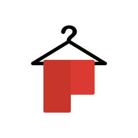 absorb: towel hanger cotton bath hotel icon. Isolated and flat illustration. Vector graphic