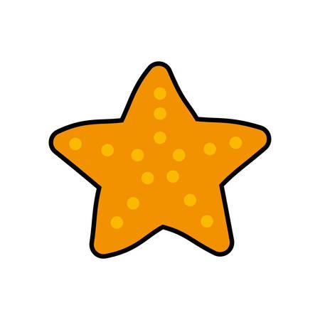 star life: estrella de mar icono naranja de dibujos animados la vida. ilustraci�n y plana. gr�fico vectorial