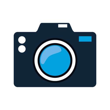 digicam: camera gadget photography technology icon. Isolated and flat illustration. Vector graphic
