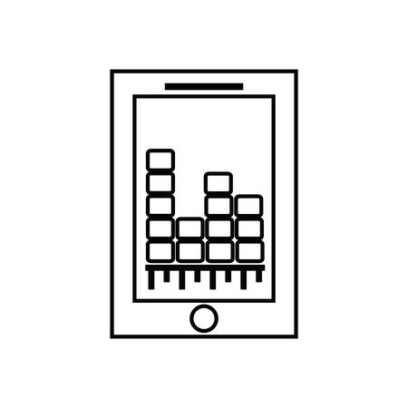 graphic equalizer: smartphone equalizer music sound dj melody icon. Isolated and flat illustration. Vector graphic